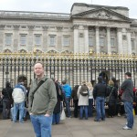 Eric in front of Buckingham Palace