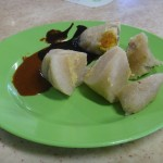 Chinese Dumplings with Salted Egg, Green Bean Paste & Water Chesnut