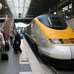 Eurostar parked in Gare du Nord Station Paris