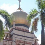 Sultan Mosque Dome lined with glass bottles donated by the poor